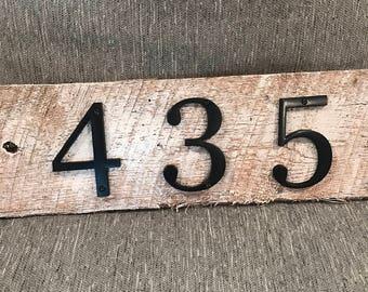 Custom Rustic House Numbers