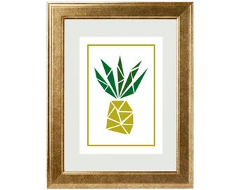 "Poster/Print/Poster/Illustration ""Pineapple"""