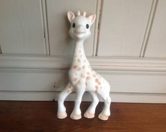 vintage rubber squeaky Giraffe toy