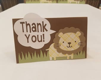 Lion or Safari Thank You Cards