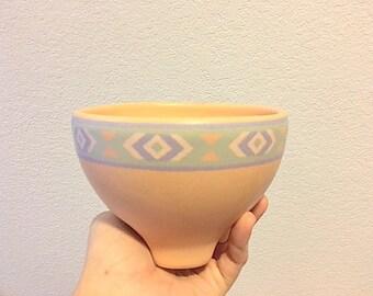Vintage Treasure Craft Southwest Salsa Bowl