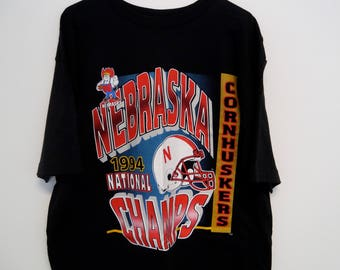 Vintage 1994 Nebraska Cornhuskers National Champions T-Shirt Men's XL