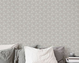 Dots Wallpaper / Circle Wallpaper / Removable Wallpaper / Geometric Wallpaper / Pattern Wallpaper / Reusable / Peel and Stick / Mural A013