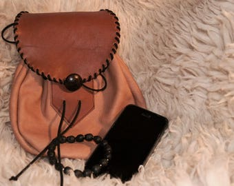 Leather pouch - handmade