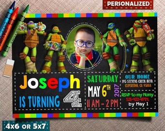 Ninja Turtles Invitation, Ninja Turtles Invite, Ninja Turtles Birthday, Ninja Turtles Party, Ninja Turtles Birthday Invitation, Ninja
