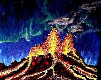 Bárðarbunga Volcano Painting