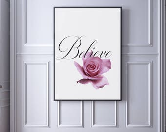 Believe Printable Art