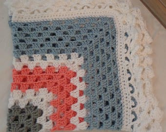 Ready to Ship- Granny Square Baby Blanket