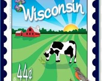 Mini Postage Stamp Panel -  Wisconsin