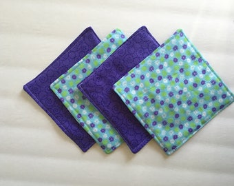 Fabric Coasters, Quilted Coasters, Drink Coasters, Cloth Coasters, Modern Coasters, Oversized Coasters