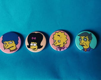 Femme Simpsons Badge Set