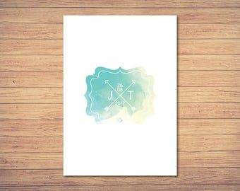 Invitation card - watercolor