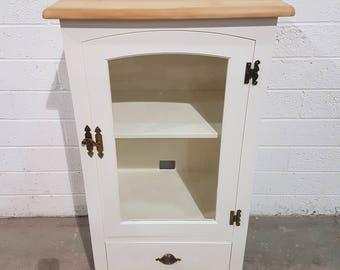 Shabby Chic Pine Hi Fi Cabinet In Rustoleum Antique White (#1058)