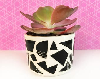 Geometric Patterned Planter