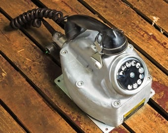 Rare Vintage Crouse Hinds Rotary Telephone For Hazardous Locations, Explosion-Proof,  Wall-Mount