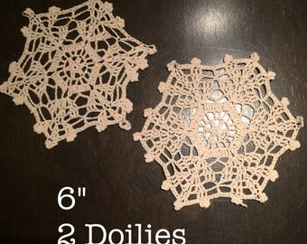 Various, Multiple, Vintage and New Doily, Doily Lot, Single Doily, Doilies (6-10)