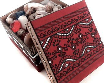 Gift box Best selling items Indian Promise ring box Favor box Keepsake Favour box Kraft gift box Painted box Jewelry box Gift box with lid
