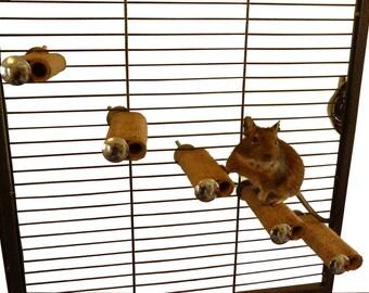 Degu Steps - Degus, rats, mice, gerbils, hamsters, birds, cage accessory
