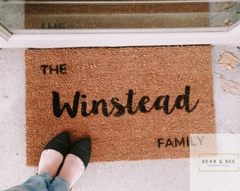 Personalized Doormat, Custom Doormat, Welcome Mat