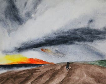 Before The Storm - Original Watercolor Painting - available in Printed and Original