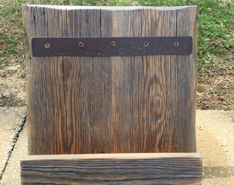 Cookbook Stand Made from Reclaimed Barnwood,  Recipe Holder, IPad Stand