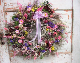 Handmade wreath wall nature table wreath door wreath Rustic house dry wreath