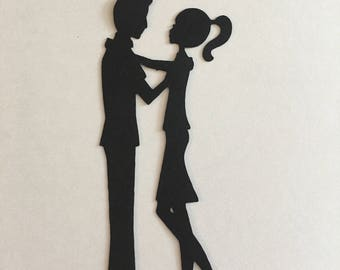 Couple dancing cut out