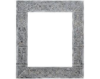 Ethnic frame for mirror Persia Black 50X60