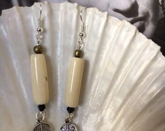 Bohemian style dangle earrings.
