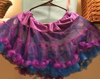 REVERSIBLE Blue/Purple Skirt XS/S/M (Extra Small/Small/Medium)
