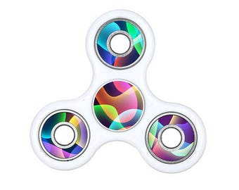 Cool Waves Fidget Spinner Decal, Spinner Fidget Decal, Fidgets, Colorful Fidget Decals, Hand Spinner Fidget Decals, Custom Decals
