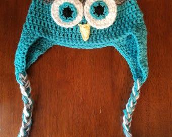 Children's Crochet Owl Hat