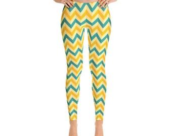 Crazy Chevron Leggings - Premium Womens Leggings - Fancee Pants Co