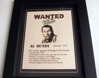 Al Bundy - Married With Children - Wanted Poster