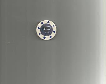 Poker Chip Magnet With Dodge Image