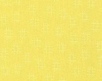 Conservatory by Heather Jones, Roots in Chartreuse, Small Pattern Fabric, Quilting Fabric, Robert Kaufman Fabrics, Yellow Fabric