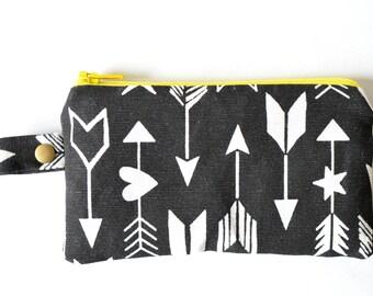 Wallet black white pouch