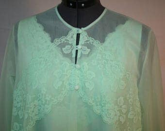 Vintage Mint Green Babydoll Short Nighty Set Petite