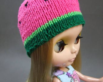Hat for Blythe, watermelon, pink