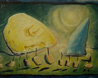 Tenth Name Day, Oil on Masonite (2014)