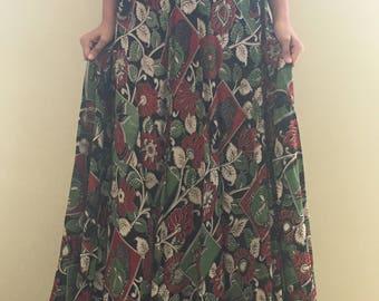 Kalamkari skirts with a flowy floral print