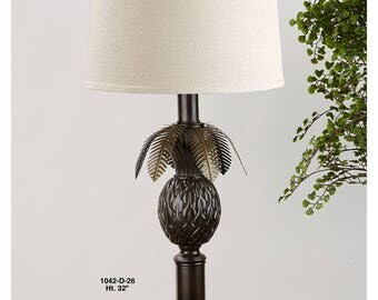 Pineapple Table Lamp with Leaves