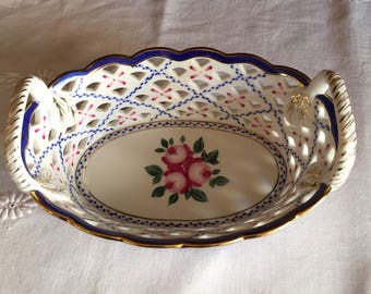 Handmade and Painted reticulated Bowl
