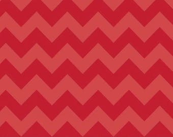 Chevron Red Tone on Tone Medium Cotton Fabric - Riley Blake Fabrics - Perfect for Nursery, Clothing, and Quilts