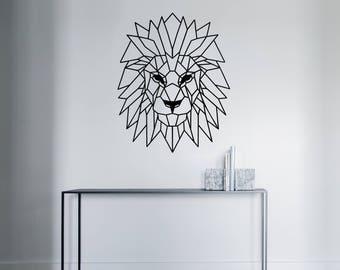 Geometric Lion Decal