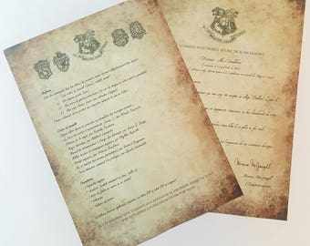Customizable Hogwarts letter - French