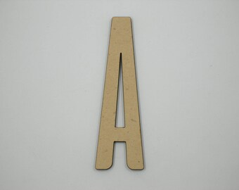 7.5cm MDF Wood Wooden Letters 3mm Thick ALI