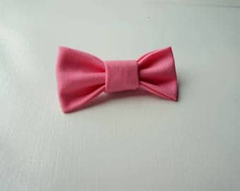 Pink Baby Bow Tie with Safety Bar Clip