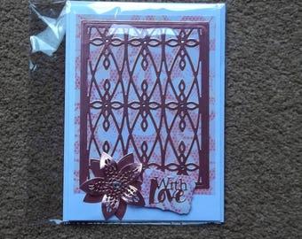 Stunning shabby chic handmade card