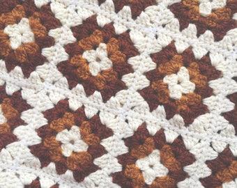 1980s baby blanket autumn tones